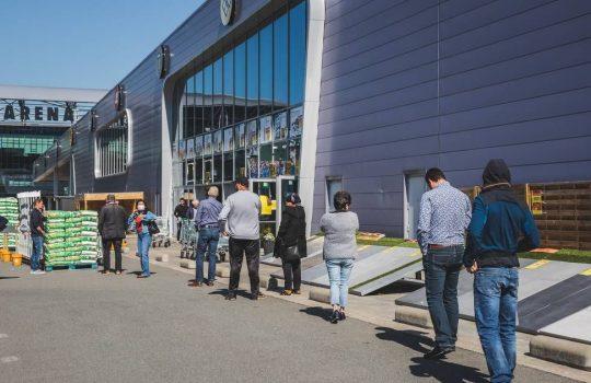 Zebrapad parking Brico (Ghelamco Arena)